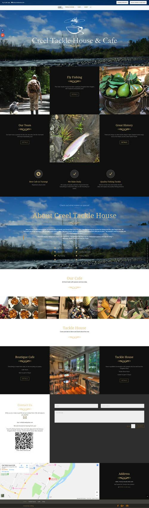 Creel Tackle House and Cafe Website Design and Development