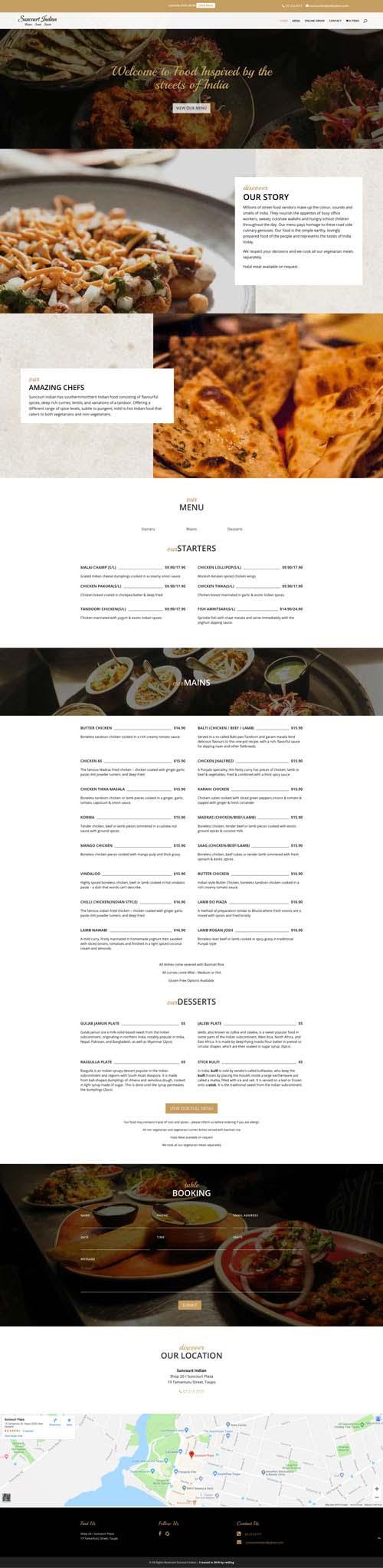 Suncourt Indian Task Bins Website Design and Development