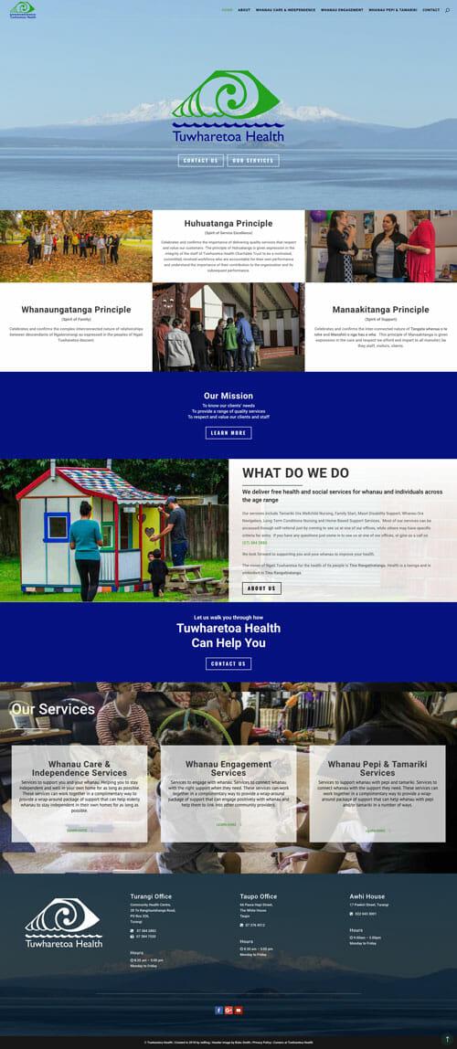 Tuwharetoa Health Website Design and Development